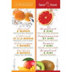 Face Food Masques Abricot + Pamplemousse - 2x6ml