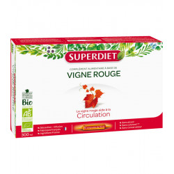 CIRCULATION, Vigne Rouge Bio -  20 ampoules de 15 ml