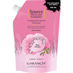 SOURCE MICELLAIRE ENCHANTEE Rose. Eco-reharge 400 ml