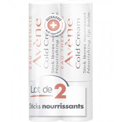 Cold Cream Stick Lèvres. Lot de 2 Sticks 4 g